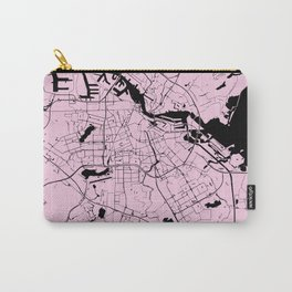 Amsterdam Pink on Black Street Map Carry-All Pouch