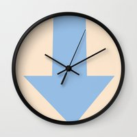 avatar Wall Clocks featuring Avatar Aang by Glassy