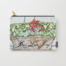 PEACE LOVE JOY PLANTER Carry-All Pouch