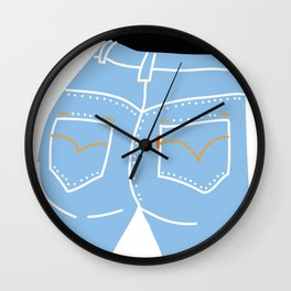 Butt Wall Clock