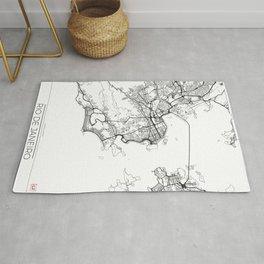 Rio de Janeiro Map White Rug