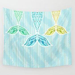 Mermaids and Stripes Wall Tapestry