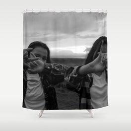 Native Girl Magic Shower Curtain