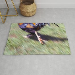 Rooster on The Run Rug