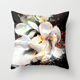 Orchids Paint Spash Throw Pillow