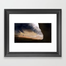 Desert cave Framed Art Print