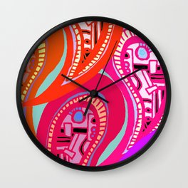 Ornamental Oriental Wall Clock
