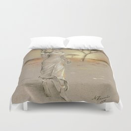 African Beauty painted Duvet Cover