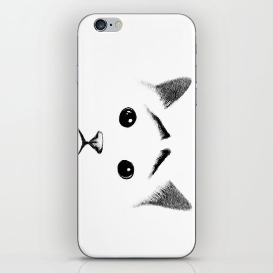 Cat with eyebrows iPhone & iPod Skin