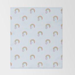 Kawaii proud rainbow cattycorn pattern Throw Blanket