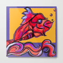 A fish outta the water Metal Print