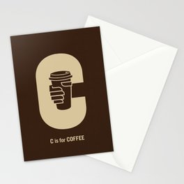 C is for Coffee Stationery Cards