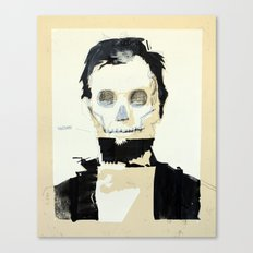 Abraham Lincoln (skull) Canvas Print