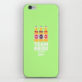 Team Bride Ireland 2017 T-Shirt Dht09 iPhone Skin