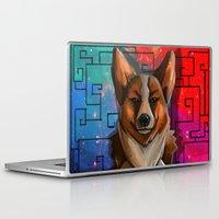 corgi Laptop & iPad Skins featuring Corgi by Joshua M. Rhodes III