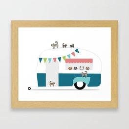 Happy Camper Kitties Framed Art Print