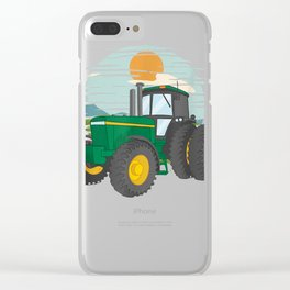 Awesome Tractor Trucker Farm Barn Farming T-Shirt Clear iPhone Case