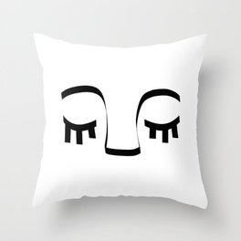 Sleeping Face Throw Pillow