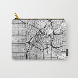 Los Angeles Map White Carry-All Pouch