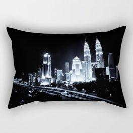 Kuala Lumpur   Malaysia   Night Lights Rectangular Pillow
