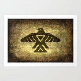 Symbol of the Anishinaabe, Ojibwe (Chippewa) on  parchment Art Print