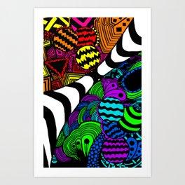 Zentangle (Recolor) Art Print