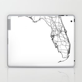 Florida White Map Laptop & iPad Skin