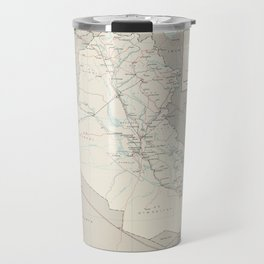 Map of Iraq (1967) Travel Mug