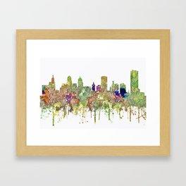 Buffalo, New York Skyline SG - Faded Glory Framed Art Print