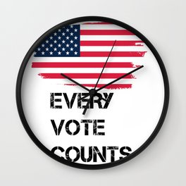 Every Vote Counts - Just Vote Wall Clock
