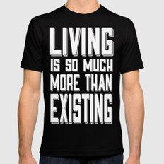 Living&existing MEDIUM Black Mens Fitted Tee