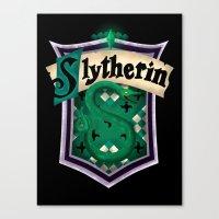 slytherin Canvas Prints featuring Slytherin by Zeynep Aktaş