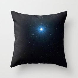 Sirius Brightest star on Night sky, Sirius Star Throw Pillow