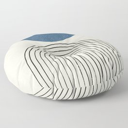 Arch Balance Blue Floor Pillow