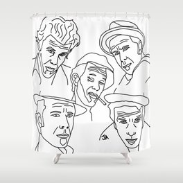 Tom Waits Whisky in a Teacup Shower Curtain