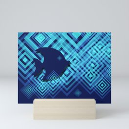 Blue Fish Angel Anglers Angles Mini Art Print