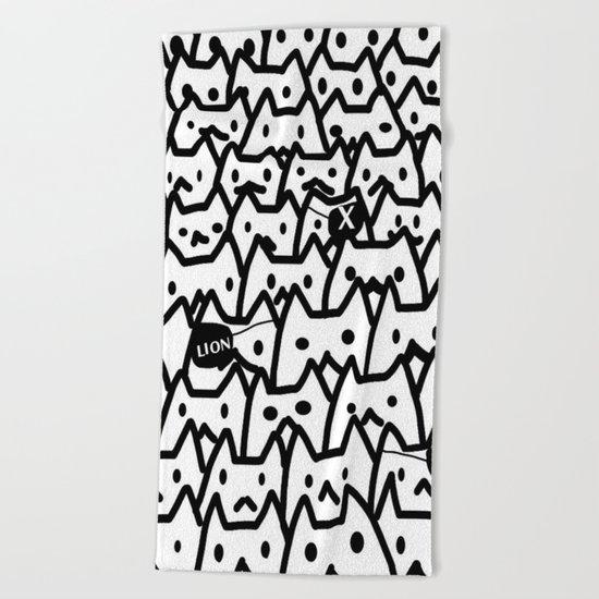 cats-349 Beach Towel