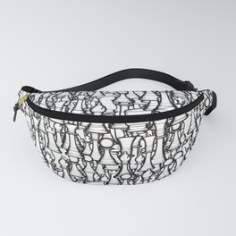 Chess Pattern II WHITE Fanny Pack