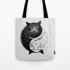 Grumpy Yin Yang Tote Bag