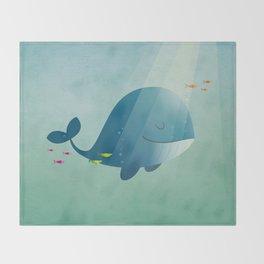 Whale print Throw Blanket