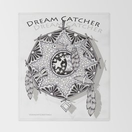 Zentangle Dreamcatcher Throw Blanket