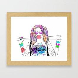 Harley Quinn Fan Art Framed Art Print