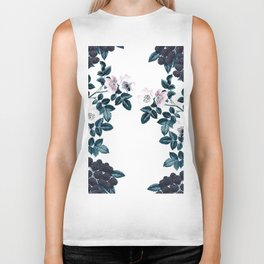 Blackberry Spring Garden - Birds and Bees Floral III Biker Tank