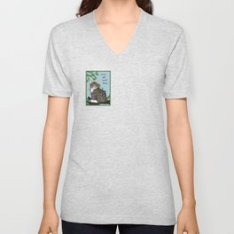 """The Cheshire Cat """"we're all mad here"""" Unisex V-Neck"""