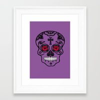 calavera Framed Art Prints featuring Calavera by SuperEdu