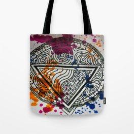 Splotchy Medallion Tote Bag