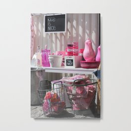Pink Party Metal Print