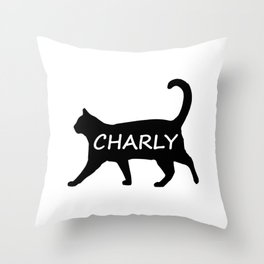 Charly Cat Throw Pillow
