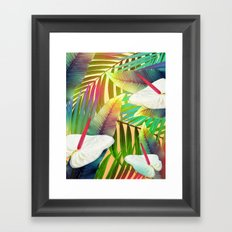 Island Flowers Framed Art Print