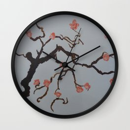 Japanese Cherry Blossoms Wall Clock